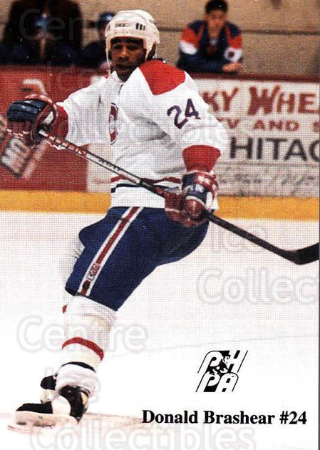 1992-93 Fredericton Canadiens #3 Donald Brashear<br/>4 In Stock - $3.00 each - <a href=https://centericecollectibles.foxycart.com/cart?name=1992-93%20Fredericton%20Canadiens%20%233%20Donald%20Brashear...&quantity_max=4&price=$3.00&code=10772 class=foxycart> Buy it now! </a>