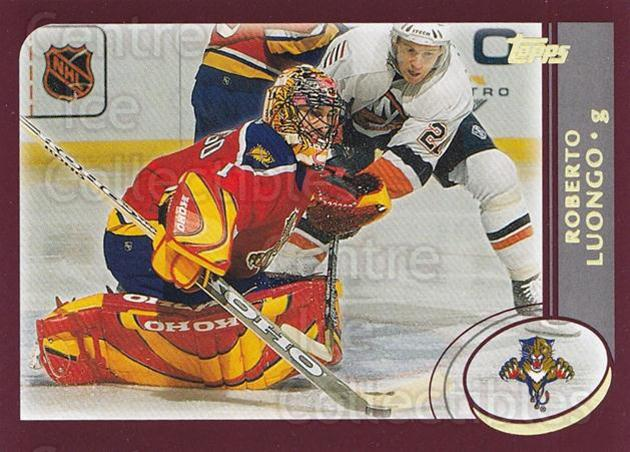2002-03 Topps Factory #108 Roberto Luongo<br/>6 In Stock - $2.00 each - <a href=https://centericecollectibles.foxycart.com/cart?name=2002-03%20Topps%20Factory%20%23108%20Roberto%20Luongo...&quantity_max=6&price=$2.00&code=107791 class=foxycart> Buy it now! </a>