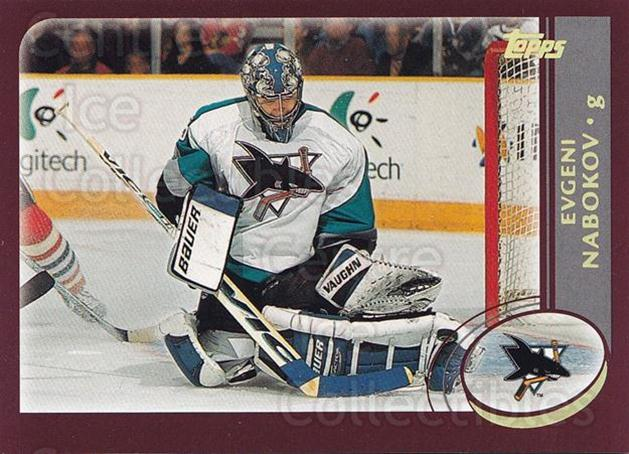 2002-03 Topps Factory #234 Evgeni Nabokov<br/>6 In Stock - $1.00 each - <a href=https://centericecollectibles.foxycart.com/cart?name=2002-03%20Topps%20Factory%20%23234%20Evgeni%20Nabokov...&quantity_max=6&price=$1.00&code=107926 class=foxycart> Buy it now! </a>