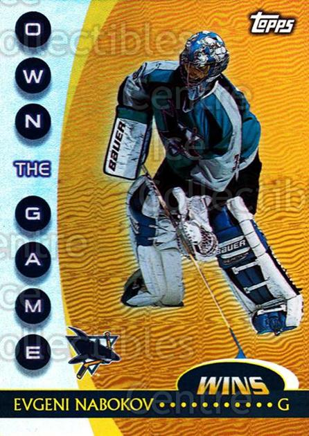 2002-03 Topps Own The Game #18 Evgeni Nabokov<br/>11 In Stock - $2.00 each - <a href=https://centericecollectibles.foxycart.com/cart?name=2002-03%20Topps%20Own%20The%20Game%20%2318%20Evgeni%20Nabokov...&quantity_max=11&price=$2.00&code=108113 class=foxycart> Buy it now! </a>