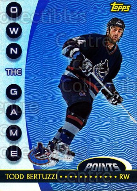 2002-03 Topps Own The Game #3 Todd Bertuzzi<br/>12 In Stock - $2.00 each - <a href=https://centericecollectibles.foxycart.com/cart?name=2002-03%20Topps%20Own%20The%20Game%20%233%20Todd%20Bertuzzi...&quantity_max=12&price=$2.00&code=108117 class=foxycart> Buy it now! </a>