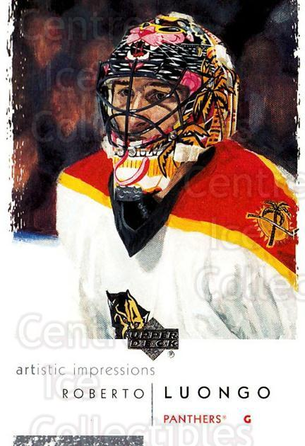 2002-03 UD Artistic Impressions #40 Roberto Luongo<br/>5 In Stock - $2.00 each - <a href=https://centericecollectibles.foxycart.com/cart?name=2002-03%20UD%20Artistic%20Impressions%20%2340%20Roberto%20Luongo...&quantity_max=5&price=$2.00&code=108461 class=foxycart> Buy it now! </a>
