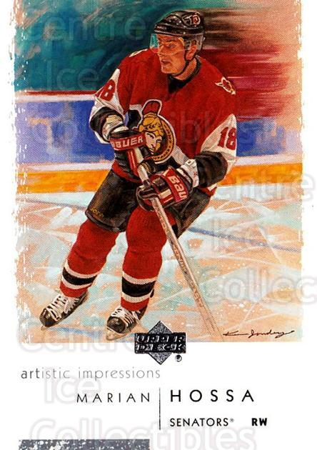 2002-03 UD Artistic Impressions #62 Marian Hossa<br/>9 In Stock - $1.00 each - <a href=https://centericecollectibles.foxycart.com/cart?name=2002-03%20UD%20Artistic%20Impressions%20%2362%20Marian%20Hossa...&quantity_max=9&price=$1.00&code=108485 class=foxycart> Buy it now! </a>