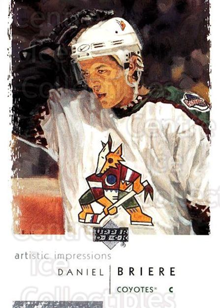 2002-03 UD Artistic Impressions #69 Daniel Briere<br/>8 In Stock - $1.00 each - <a href=https://centericecollectibles.foxycart.com/cart?name=2002-03%20UD%20Artistic%20Impressions%20%2369%20Daniel%20Briere...&quantity_max=8&price=$1.00&code=108492 class=foxycart> Buy it now! </a>