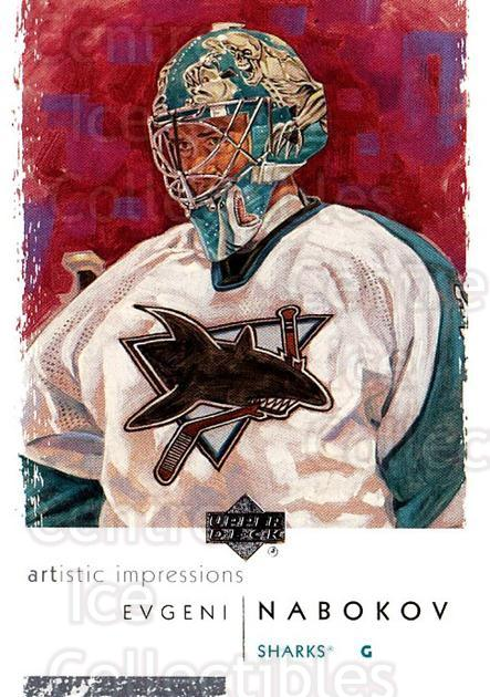 2002-03 UD Artistic Impressions #74 Evgeni Nabokov<br/>6 In Stock - $1.00 each - <a href=https://centericecollectibles.foxycart.com/cart?name=2002-03%20UD%20Artistic%20Impressions%20%2374%20Evgeni%20Nabokov...&quantity_max=6&price=$1.00&code=108496 class=foxycart> Buy it now! </a>