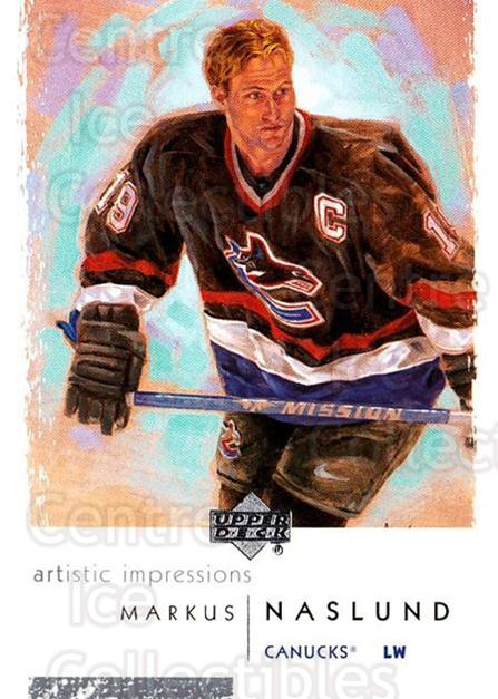 2002-03 UD Artistic Impressions #87 Markus Naslund<br/>9 In Stock - $1.00 each - <a href=https://centericecollectibles.foxycart.com/cart?name=2002-03%20UD%20Artistic%20Impressions%20%2387%20Markus%20Naslund...&quantity_max=9&price=$1.00&code=108509 class=foxycart> Buy it now! </a>