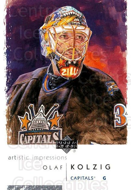 2002-03 UD Artistic Impressions #90 Olaf Kolzig<br/>6 In Stock - $1.00 each - <a href=https://centericecollectibles.foxycart.com/cart?name=2002-03%20UD%20Artistic%20Impressions%20%2390%20Olaf%20Kolzig...&quantity_max=6&price=$1.00&code=108513 class=foxycart> Buy it now! </a>