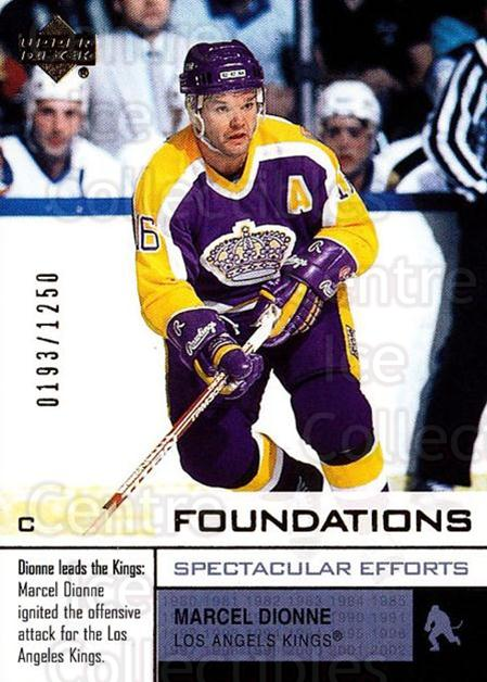 2002-03 UD Foundations #114 Marcel Dionne<br/>1 In Stock - $3.00 each - <a href=https://centericecollectibles.foxycart.com/cart?name=2002-03%20UD%20Foundations%20%23114%20Marcel%20Dionne...&quantity_max=1&price=$3.00&code=108533 class=foxycart> Buy it now! </a>