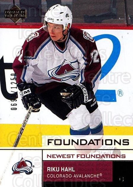 2002-03 UD Foundations #126 Riku Hahl<br/>4 In Stock - $3.00 each - <a href=https://centericecollectibles.foxycart.com/cart?name=2002-03%20UD%20Foundations%20%23126%20Riku%20Hahl...&price=$3.00&code=108543 class=foxycart> Buy it now! </a>