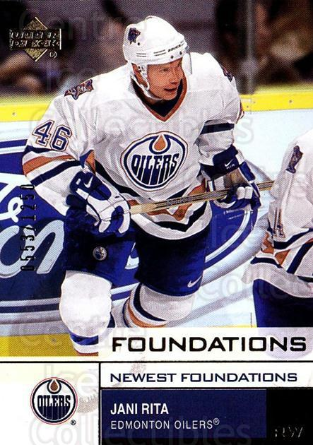 2002-03 UD Foundations #129 Jani Rita<br/>3 In Stock - $3.00 each - <a href=https://centericecollectibles.foxycart.com/cart?name=2002-03%20UD%20Foundations%20%23129%20Jani%20Rita...&quantity_max=3&price=$3.00&code=108546 class=foxycart> Buy it now! </a>
