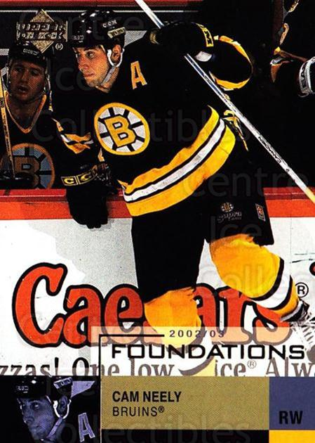 2002-03 UD Foundations #3 Cam Neely<br/>3 In Stock - $1.00 each - <a href=https://centericecollectibles.foxycart.com/cart?name=2002-03%20UD%20Foundations%20%233%20Cam%20Neely...&quantity_max=3&price=$1.00&code=108597 class=foxycart> Buy it now! </a>