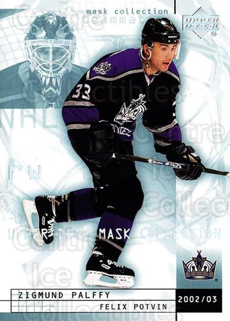 2002-03 UD Mask Collection #41 Zigmund Palffy, Felix Potvin<br/>5 In Stock - $1.00 each - <a href=https://centericecollectibles.foxycart.com/cart?name=2002-03%20UD%20Mask%20Collection%20%2341%20Zigmund%20Palffy,...&quantity_max=5&price=$1.00&code=108800 class=foxycart> Buy it now! </a>