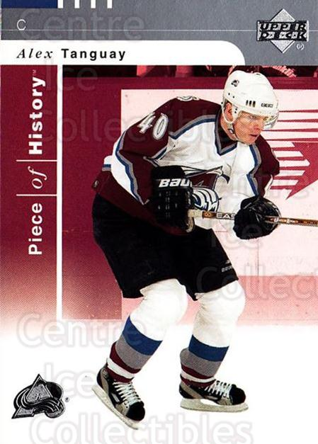 2002-03 UD Piece of History #28 Alex Tanguay<br/>5 In Stock - $1.00 each - <a href=https://centericecollectibles.foxycart.com/cart?name=2002-03%20UD%20Piece%20of%20History%20%2328%20Alex%20Tanguay...&quantity_max=5&price=$1.00&code=108891 class=foxycart> Buy it now! </a>