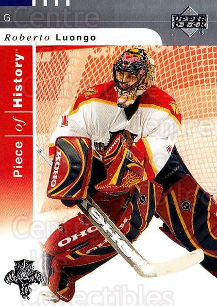 2002-03 UD Piece of History #41 Roberto Luongo<br/>4 In Stock - $2.00 each - <a href=https://centericecollectibles.foxycart.com/cart?name=2002-03%20UD%20Piece%20of%20History%20%2341%20Roberto%20Luongo...&quantity_max=4&price=$2.00&code=108906 class=foxycart> Buy it now! </a>