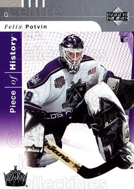 2002-03 UD Piece of History #44 Felix Potvin<br/>4 In Stock - $1.00 each - <a href=https://centericecollectibles.foxycart.com/cart?name=2002-03%20UD%20Piece%20of%20History%20%2344%20Felix%20Potvin...&quantity_max=4&price=$1.00&code=108909 class=foxycart> Buy it now! </a>