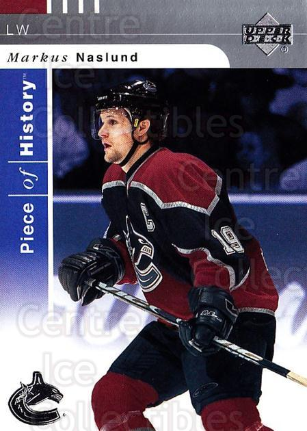 2002-03 UD Piece of History #87 Markus Naslund<br/>8 In Stock - $1.00 each - <a href=https://centericecollectibles.foxycart.com/cart?name=2002-03%20UD%20Piece%20of%20History%20%2387%20Markus%20Naslund...&quantity_max=8&price=$1.00&code=108953 class=foxycart> Buy it now! </a>
