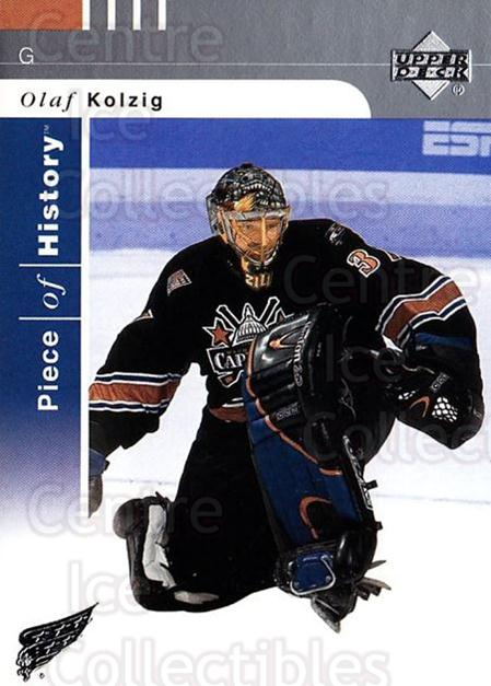 2002-03 UD Piece of History #88 Olaf Kolzig<br/>5 In Stock - $1.00 each - <a href=https://centericecollectibles.foxycart.com/cart?name=2002-03%20UD%20Piece%20of%20History%20%2388%20Olaf%20Kolzig...&quantity_max=5&price=$1.00&code=108954 class=foxycart> Buy it now! </a>
