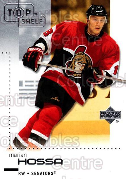 2002-03 UD Top Shelf #62 Marian Hossa<br/>6 In Stock - $1.00 each - <a href=https://centericecollectibles.foxycart.com/cart?name=2002-03%20UD%20Top%20Shelf%20%2362%20Marian%20Hossa...&quantity_max=6&price=$1.00&code=109058 class=foxycart> Buy it now! </a>