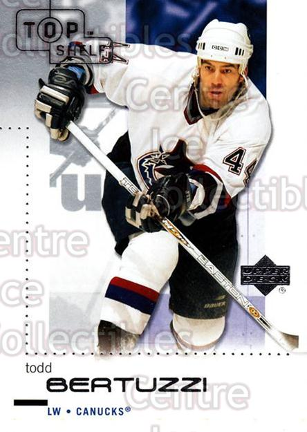 2002-03 UD Top Shelf #85 Todd Bertuzzi<br/>6 In Stock - $1.00 each - <a href=https://centericecollectibles.foxycart.com/cart?name=2002-03%20UD%20Top%20Shelf%20%2385%20Todd%20Bertuzzi...&quantity_max=6&price=$1.00&code=109083 class=foxycart> Buy it now! </a>