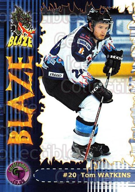 2002-03 UK British Elite Coventry Blaze #14 Tom Watkins<br/>6 In Stock - $2.00 each - <a href=https://centericecollectibles.foxycart.com/cart?name=2002-03%20UK%20British%20Elite%20Coventry%20Blaze%20%2314%20Tom%20Watkins...&price=$2.00&code=109099 class=foxycart> Buy it now! </a>