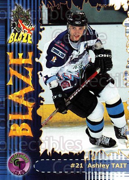 2002-03 UK British Elite Coventry Blaze #15 Ashley Tait<br/>4 In Stock - $2.00 each - <a href=https://centericecollectibles.foxycart.com/cart?name=2002-03%20UK%20British%20Elite%20Coventry%20Blaze%20%2315%20Ashley%20Tait...&price=$2.00&code=109100 class=foxycart> Buy it now! </a>