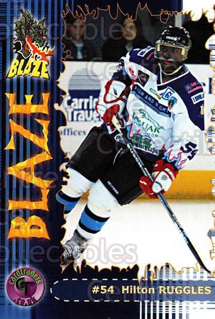 2002-03 UK British Elite Coventry Blaze #18 Hilton Ruggles<br/>4 In Stock - $2.00 each - <a href=https://centericecollectibles.foxycart.com/cart?name=2002-03%20UK%20British%20Elite%20Coventry%20Blaze%20%2318%20Hilton%20Ruggles...&price=$2.00&code=109103 class=foxycart> Buy it now! </a>