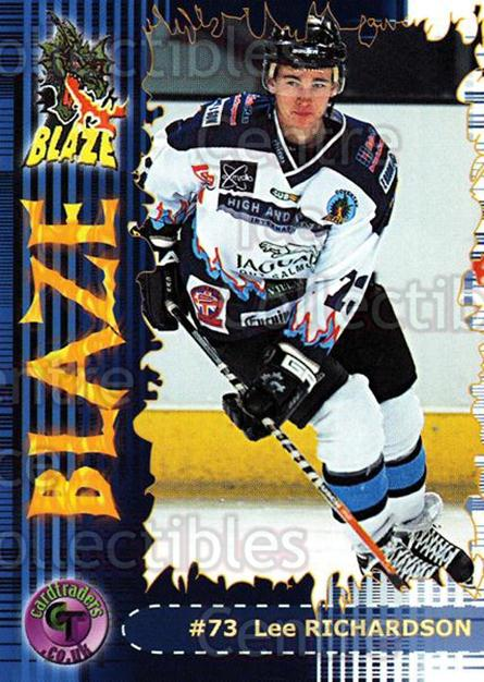 2002-03 UK British Elite Coventry Blaze #19 Lee Richardson<br/>6 In Stock - $2.00 each - <a href=https://centericecollectibles.foxycart.com/cart?name=2002-03%20UK%20British%20Elite%20Coventry%20Blaze%20%2319%20Lee%20Richardson...&price=$2.00&code=109104 class=foxycart> Buy it now! </a>