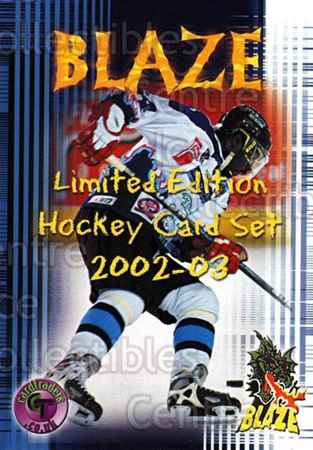 2002-03 UK British Elite Coventry Blaze #24 Checklist<br/>6 In Stock - $2.00 each - <a href=https://centericecollectibles.foxycart.com/cart?name=2002-03%20UK%20British%20Elite%20Coventry%20Blaze%20%2324%20Checklist...&price=$2.00&code=109110 class=foxycart> Buy it now! </a>