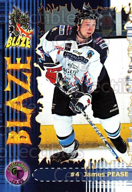 2002-03 UK British Elite Coventry Blaze #5 James Pease<br/>5 In Stock - $2.00 each - <a href=https://centericecollectibles.foxycart.com/cart?name=2002-03%20UK%20British%20Elite%20Coventry%20Blaze%20%235%20James%20Pease...&price=$2.00&code=109113 class=foxycart> Buy it now! </a>