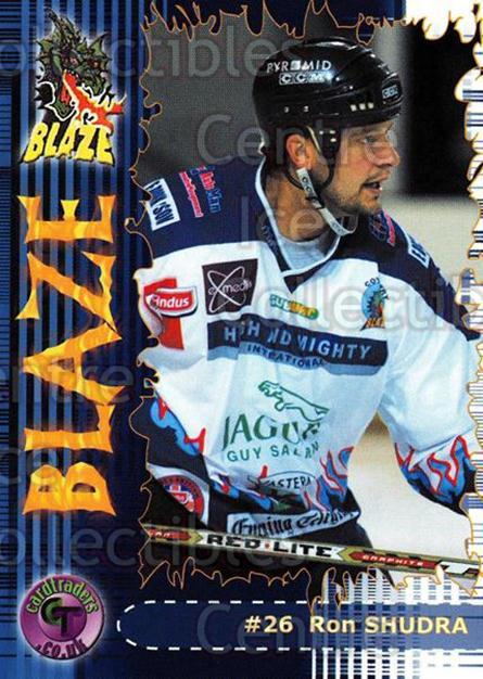 2002-03 UK British Elite Coventry Blaze #9 Ron Shudra<br/>6 In Stock - $2.00 each - <a href=https://centericecollectibles.foxycart.com/cart?name=2002-03%20UK%20British%20Elite%20Coventry%20Blaze%20%239%20Ron%20Shudra...&price=$2.00&code=109116 class=foxycart> Buy it now! </a>