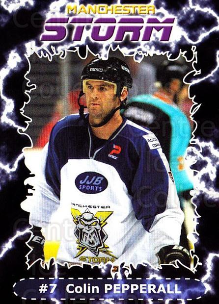 2002-03 UK British Elite Manchester Storm #1 Colin Pepperall<br/>5 In Stock - $2.00 each - <a href=https://centericecollectibles.foxycart.com/cart?name=2002-03%20UK%20British%20Elite%20Manchester%20Storm%20%231%20Colin%20Pepperall...&quantity_max=5&price=$2.00&code=109142 class=foxycart> Buy it now! </a>