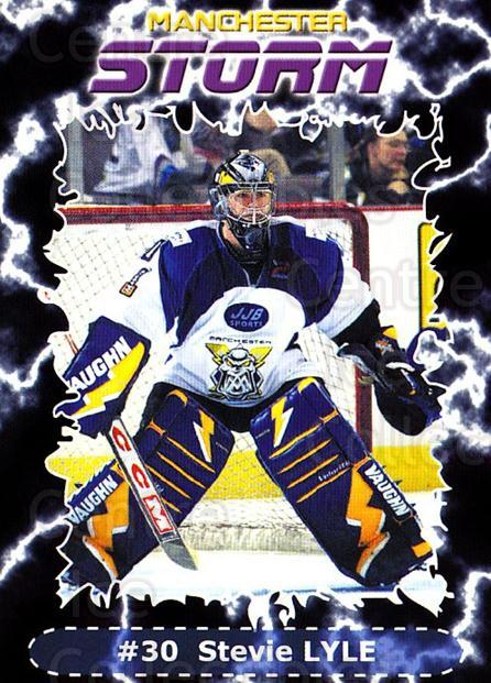 2002-03 UK British Elite Manchester Storm #15 Stevie Lyle<br/>5 In Stock - $2.00 each - <a href=https://centericecollectibles.foxycart.com/cart?name=2002-03%20UK%20British%20Elite%20Manchester%20Storm%20%2315%20Stevie%20Lyle...&quantity_max=5&price=$2.00&code=109148 class=foxycart> Buy it now! </a>