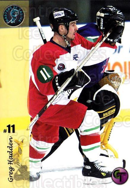 2002-03 UK British Elite Masters of the Ice Greg Hadden #2 Greg Hadden<br/>5 In Stock - $2.00 each - <a href=https://centericecollectibles.foxycart.com/cart?name=2002-03%20UK%20British%20Elite%20Masters%20of%20the%20Ice%20Greg%20Hadden%20%232%20Greg%20Hadden...&price=$2.00&code=109163 class=foxycart> Buy it now! </a>