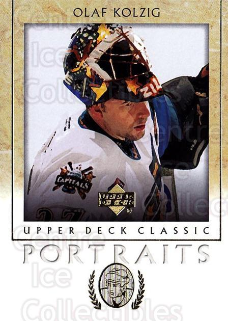 2002-03 UD Classic Portraits #100 Olaf Kolzig<br/>5 In Stock - $1.00 each - <a href=https://centericecollectibles.foxycart.com/cart?name=2002-03%20UD%20Classic%20Portraits%20%23100%20Olaf%20Kolzig...&quantity_max=5&price=$1.00&code=109232 class=foxycart> Buy it now! </a>