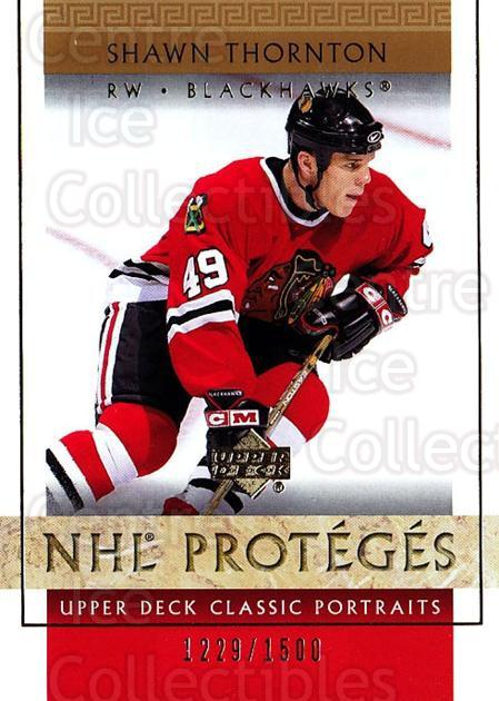 2002-03 UD Classic Portraits #107 Shawn Thornton<br/>3 In Stock - $3.00 each - <a href=https://centericecollectibles.foxycart.com/cart?name=2002-03%20UD%20Classic%20Portraits%20%23107%20Shawn%20Thornton...&quantity_max=3&price=$3.00&code=109236 class=foxycart> Buy it now! </a>