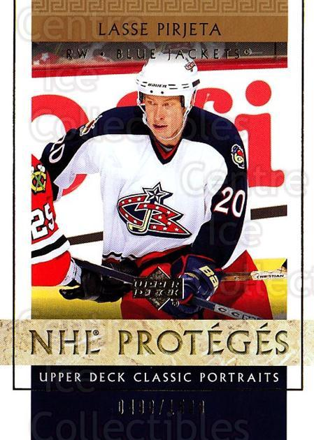 2002-03 UD Classic Portraits #110 Lasse Pirjeta<br/>6 In Stock - $3.00 each - <a href=https://centericecollectibles.foxycart.com/cart?name=2002-03%20UD%20Classic%20Portraits%20%23110%20Lasse%20Pirjeta...&quantity_max=6&price=$3.00&code=109239 class=foxycart> Buy it now! </a>