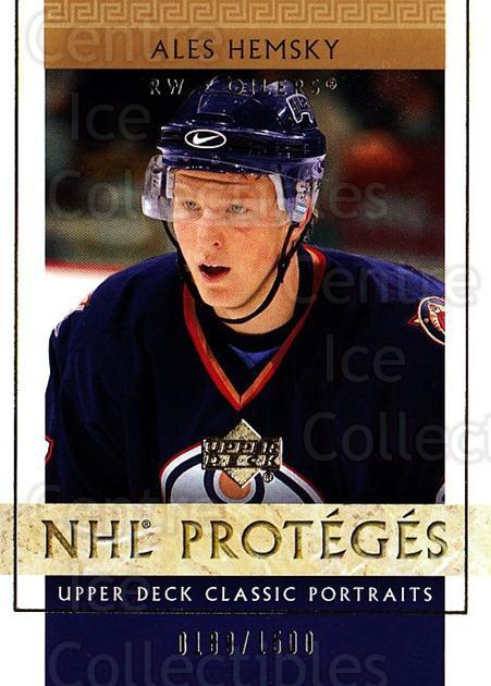 2002-03 UD Classic Portraits #113 Ales Hemsky<br/>1 In Stock - $3.00 each - <a href=https://centericecollectibles.foxycart.com/cart?name=2002-03%20UD%20Classic%20Portraits%20%23113%20Ales%20Hemsky...&quantity_max=1&price=$3.00&code=109241 class=foxycart> Buy it now! </a>