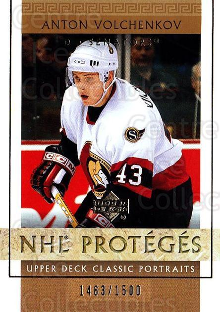 2002-03 UD Classic Portraits #122 Anton Volchenkov<br/>6 In Stock - $3.00 each - <a href=https://centericecollectibles.foxycart.com/cart?name=2002-03%20UD%20Classic%20Portraits%20%23122%20Anton%20Volchenko...&quantity_max=6&price=$3.00&code=109247 class=foxycart> Buy it now! </a>