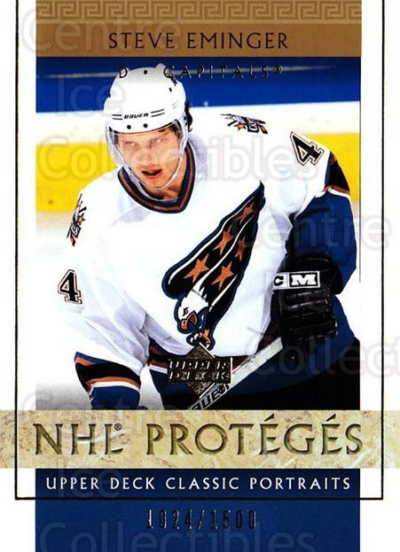 2002-03 UD Classic Portraits #130 Steve Eminger<br/>6 In Stock - $3.00 each - <a href=https://centericecollectibles.foxycart.com/cart?name=2002-03%20UD%20Classic%20Portraits%20%23130%20Steve%20Eminger...&quantity_max=6&price=$3.00&code=109252 class=foxycart> Buy it now! </a>