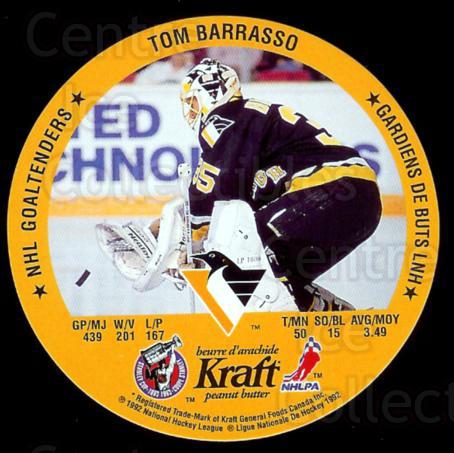 1992-93 Kraft Peanut Butter Discs #1 Tom Barrasso, Wendell Young<br/>10 In Stock - $2.00 each - <a href=https://centericecollectibles.foxycart.com/cart?name=1992-93%20Kraft%20Peanut%20Butter%20Discs%20%231%20Tom%20Barrasso,%20W...&price=$2.00&code=10926 class=foxycart> Buy it now! </a>