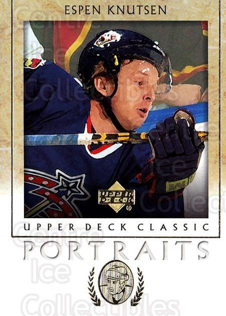 2002-03 UD Classic Portraits #29 Espen Knutsen<br/>6 In Stock - $1.00 each - <a href=https://centericecollectibles.foxycart.com/cart?name=2002-03%20UD%20Classic%20Portraits%20%2329%20Espen%20Knutsen...&quantity_max=6&price=$1.00&code=109270 class=foxycart> Buy it now! </a>