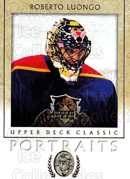 2002-03 UD Classic Portraits #42 Roberto Luongo<br/>4 In Stock - $1.00 each - <a href=https://centericecollectibles.foxycart.com/cart?name=2002-03%20UD%20Classic%20Portraits%20%2342%20Roberto%20Luongo...&quantity_max=4&price=$1.00&code=109285 class=foxycart> Buy it now! </a>