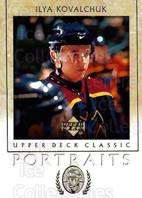 2002-03 UD Classic Portraits #5 Ilya Kovalchuk<br/>4 In Stock - $1.00 each - <a href=https://centericecollectibles.foxycart.com/cart?name=2002-03%20UD%20Classic%20Portraits%20%235%20Ilya%20Kovalchuk...&quantity_max=4&price=$1.00&code=109292 class=foxycart> Buy it now! </a>