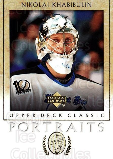 2002-03 UD Classic Portraits #89 Nikolai Khabibulin<br/>5 In Stock - $1.00 each - <a href=https://centericecollectibles.foxycart.com/cart?name=2002-03%20UD%20Classic%20Portraits%20%2389%20Nikolai%20Khabibu...&quantity_max=5&price=$1.00&code=109329 class=foxycart> Buy it now! </a>