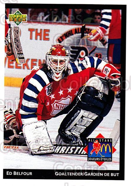 1992-93 McDonalds Upper Deck #1 Ed Belfour<br/>10 In Stock - $1.00 each - <a href=https://centericecollectibles.foxycart.com/cart?name=1992-93%20McDonalds%20Upper%20Deck%20%231%20Ed%20Belfour...&quantity_max=10&price=$1.00&code=10964 class=foxycart> Buy it now! </a>