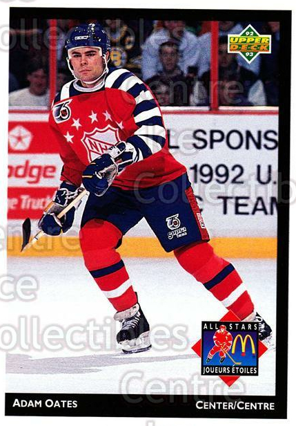 1992-93 McDonalds Upper Deck #11 Adam Oates<br/>11 In Stock - $1.00 each - <a href=https://centericecollectibles.foxycart.com/cart?name=1992-93%20McDonalds%20Upper%20Deck%20%2311%20Adam%20Oates...&quantity_max=11&price=$1.00&code=10966 class=foxycart> Buy it now! </a>