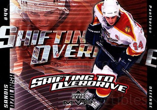2002-03 Upper Deck MVP Shifting to Overdrive #9 Sandis Ozolinsh<br/>7 In Stock - $2.00 each - <a href=https://centericecollectibles.foxycart.com/cart?name=2002-03%20Upper%20Deck%20MVP%20Shifting%20to%20Overdrive%20%239%20Sandis%20Ozolinsh...&quantity_max=7&price=$2.00&code=109682 class=foxycart> Buy it now! </a>