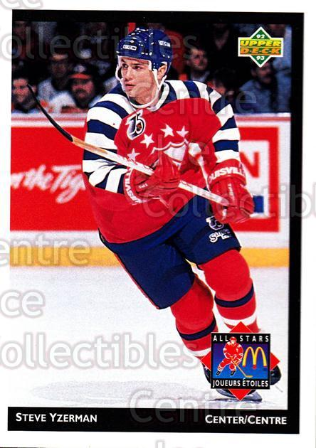1992-93 McDonalds Upper Deck #14 Steve Yzerman<br/>9 In Stock - $1.00 each - <a href=https://centericecollectibles.foxycart.com/cart?name=1992-93%20McDonalds%20Upper%20Deck%20%2314%20Steve%20Yzerman...&price=$1.00&code=10969 class=foxycart> Buy it now! </a>