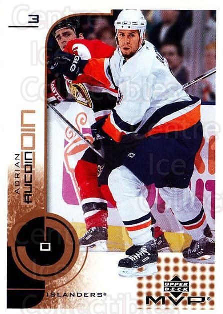 2002-03 Upper Deck MVP #116 Adrian Aucoin<br/>7 In Stock - $1.00 each - <a href=https://centericecollectibles.foxycart.com/cart?name=2002-03%20Upper%20Deck%20MVP%20%23116%20Adrian%20Aucoin...&quantity_max=7&price=$1.00&code=109709 class=foxycart> Buy it now! </a>