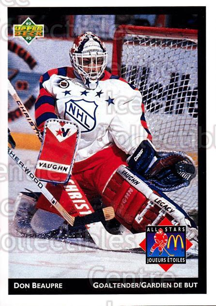 1992-93 McDonalds Upper Deck #15 Don Beaupre<br/>9 In Stock - $1.00 each - <a href=https://centericecollectibles.foxycart.com/cart?name=1992-93%20McDonalds%20Upper%20Deck%20%2315%20Don%20Beaupre...&quantity_max=9&price=$1.00&code=10970 class=foxycart> Buy it now! </a>
